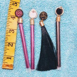 Black and Purple Tassle Earring set...